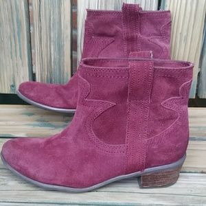 Lucky Brand Terra Western Style Ankle Boots